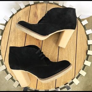 J. Crew Black Macalister High Heeled Ankle Bootie